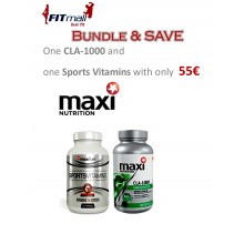 MAXIFUEL SPORTS VITAMINS & CLA-1000 DEAL