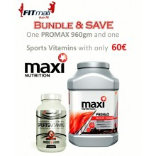 PROMAX 960gm+ SPORTS VITAMINS Φράουλα